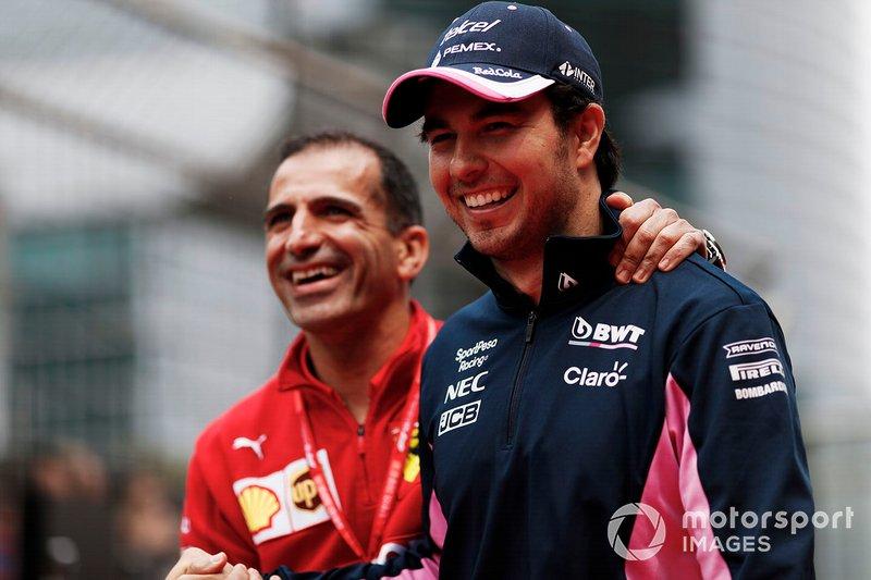 Марк Жене, Ferrari, Серхіо Перес, Racing Point