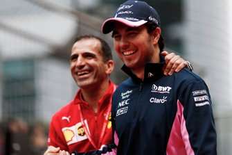 Marc Gene, Ferrari, with Sergio Perez, Racing Point