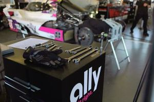 #48 Action Express Racing Cadillac DPi pit area