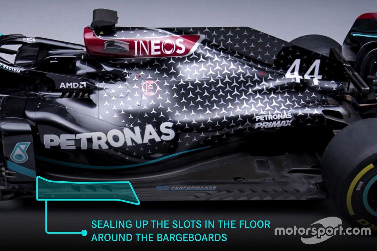 Mercedes AMG F1 W12 changes