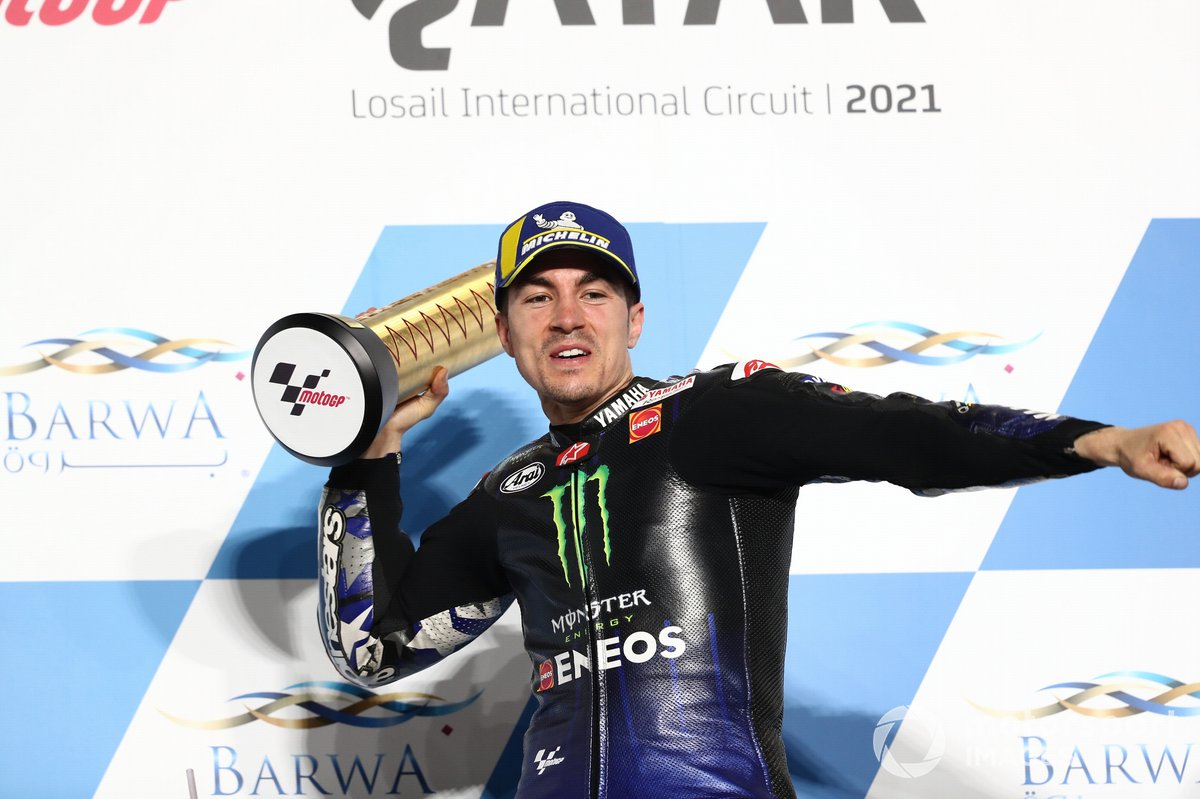 Il vincitore della gara Maverick Vinales, Yamaha Factory Racing