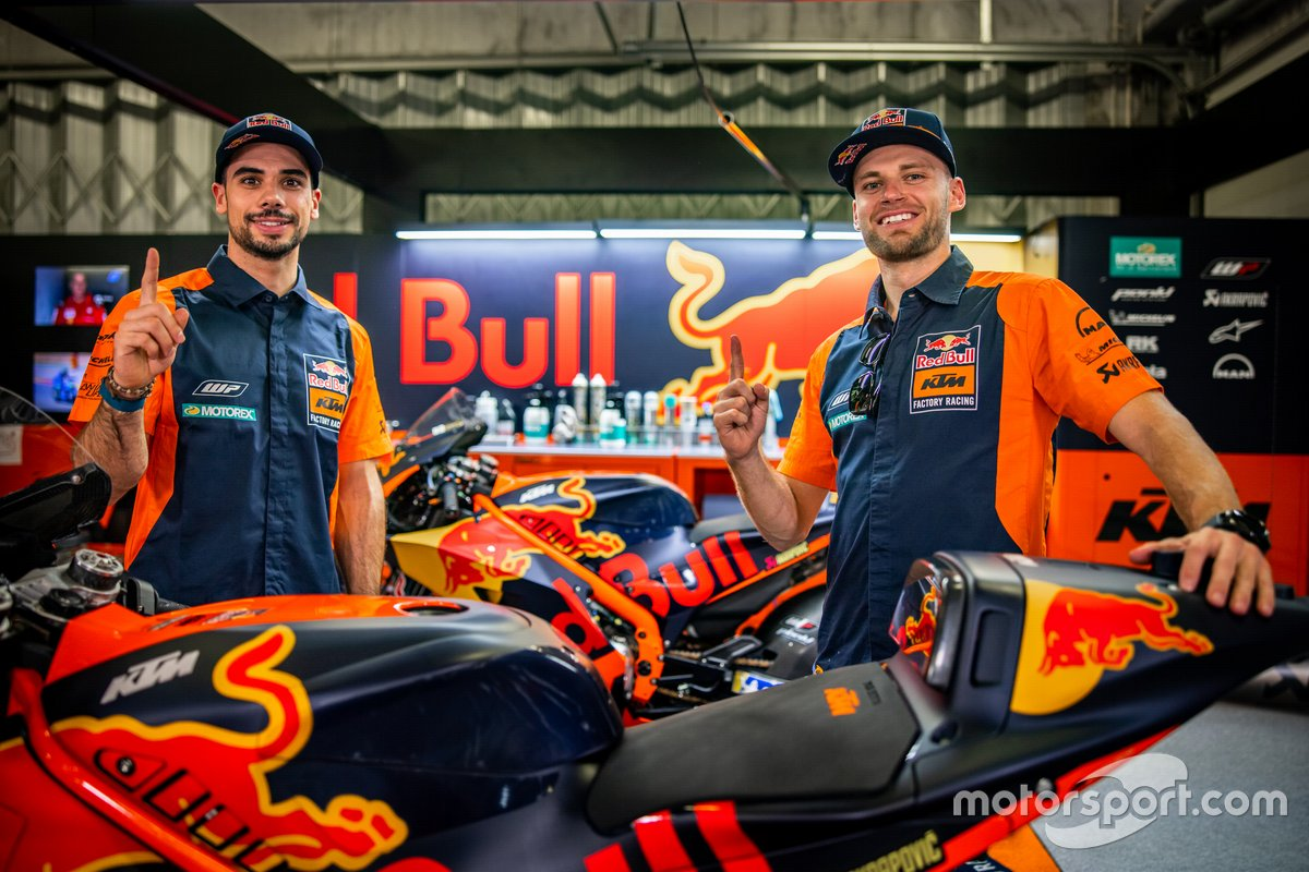 Miguel Oliveira, Red Bull KTM Factory Racing y Brad Binder, Red Bull KTM Factory Racing