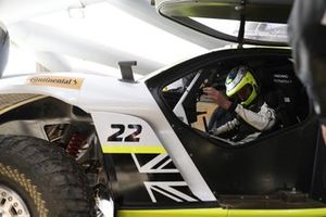 Jenson Button, JBXE Extreme-E Team, in the cockpit of the Odyssey 21