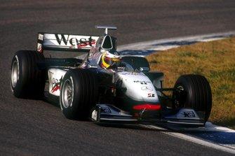 Nick Heidfeld tests the McLaren Mercedes MP4-13