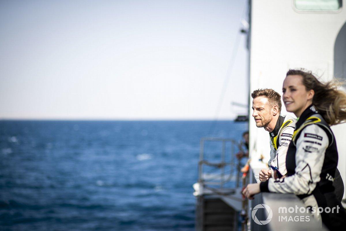 Jenson Button, JBXE Extreme-E Team y Mikaela Ahlin-Kottulinsky, JBXE Extreme-E Team