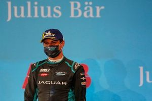 Mitch Evans, Panasonic Jaguar Racing, 3rd position, on the podium
