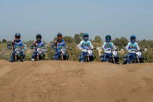Van links naar rechts: Ben Watson, Jeremy Seewer, Glenn Coldenhoff, Maxime Renaux, Jago Geerts en Thibault Benistant, Monster Energy Yamaha Factory Racing