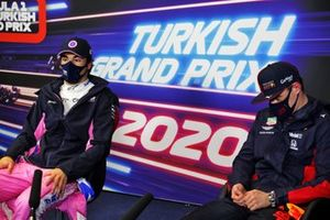 Pole man Lance Stroll, Racing Point, Max Verstappen, Red Bull Racing