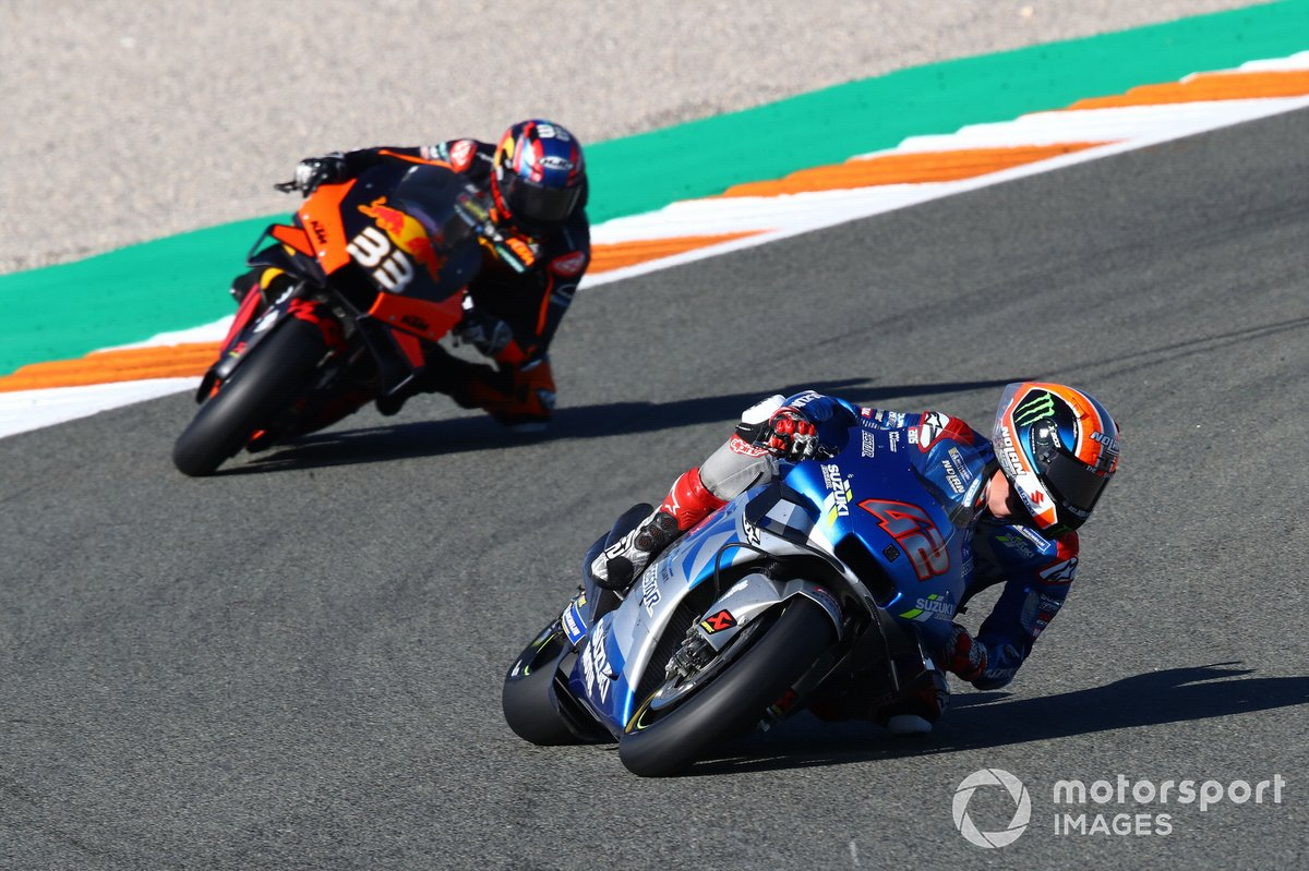 Alex Rins, Team Suzuki MotoGP, Brad Binder, Red Bull KTM Factory Racing