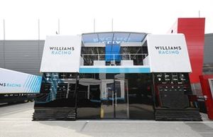 Williams motorhome in the paddock