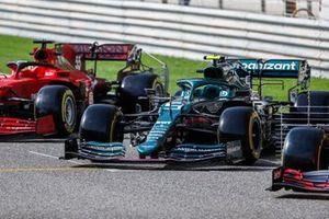 The car of Sebastian Vettel, Aston Martin AMR21