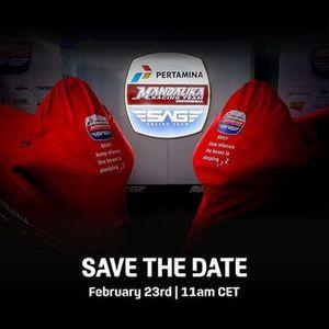 Poster del lancio della Pertamina Mandalika SAG Team Moto2 2021