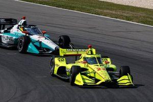 Simon Pagenaud, Team Penske Chevrolet, Dalton Kellett, A.J. Foyt Enterprises Chevrolet