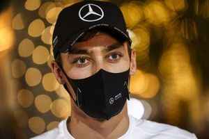 George Russell, Mercedes-AMG F1 speaks to the media
