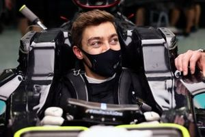 George Russell, Mercedes-AMG F1 in his car