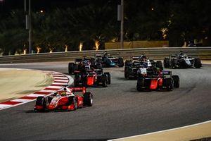 Mick Schumacher, Prema Racing, Felipe Drugovich, MP Motorsport, Giuliano Alesi, MP Motorsport, en Louis Deletraz, Charouz Racing System