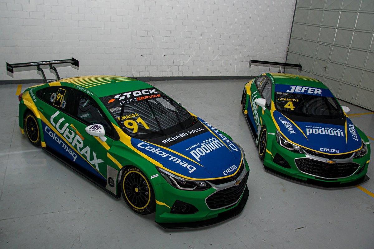 Carros de Felipe Massa e Julio Campos para 2021