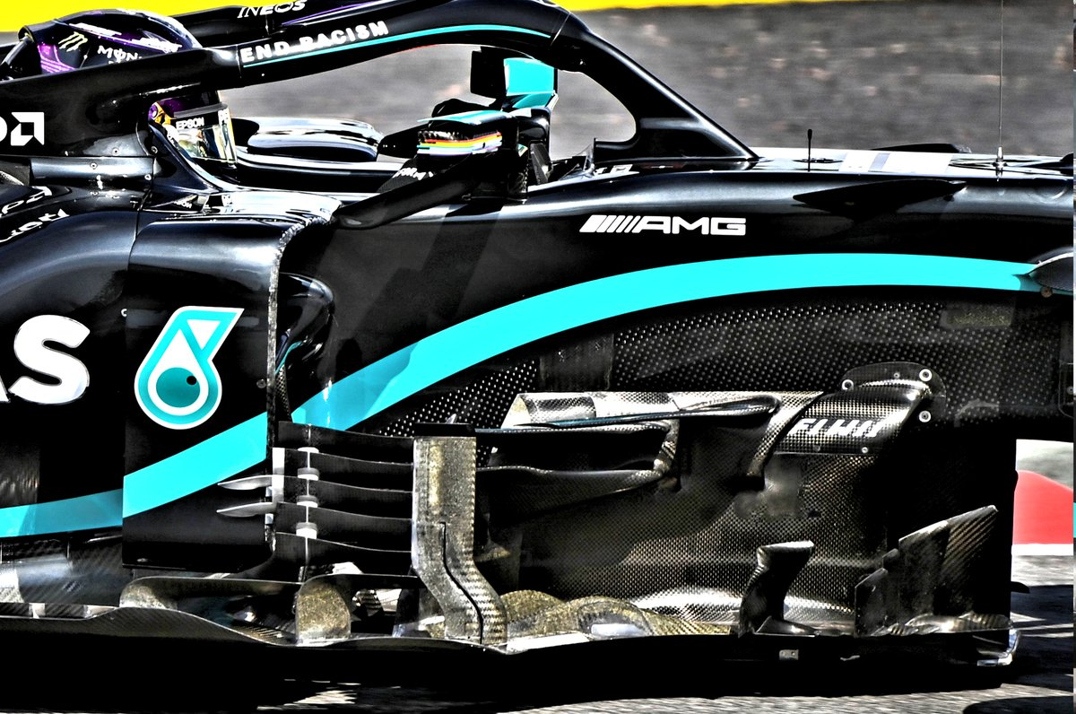 Детали области дефлектора Mercedes F1 W11 (старая версия)