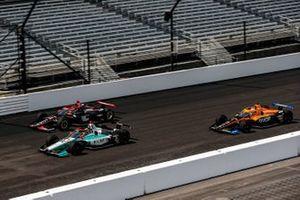 Dalton Kellett, A.J. Foyt Enterprises Chevrolet, Will Power, Team Penske Chevrolet, and Oliver Askew, Arrow McLaren SP Chevrolet