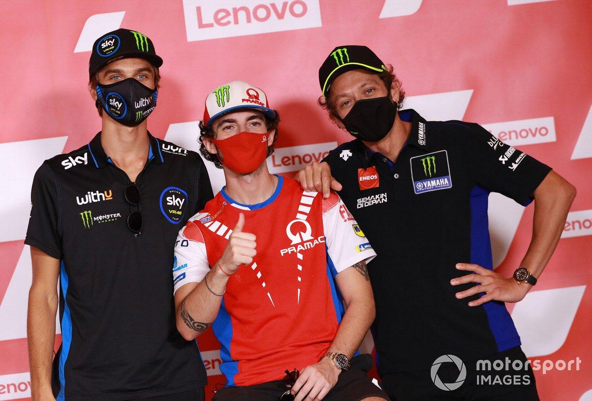 Luca Marini, Sky Racing Team VR46, Francesco Bagnaia, Pramac Racing, Valentino Rossi, Yamaha Factory Racing
