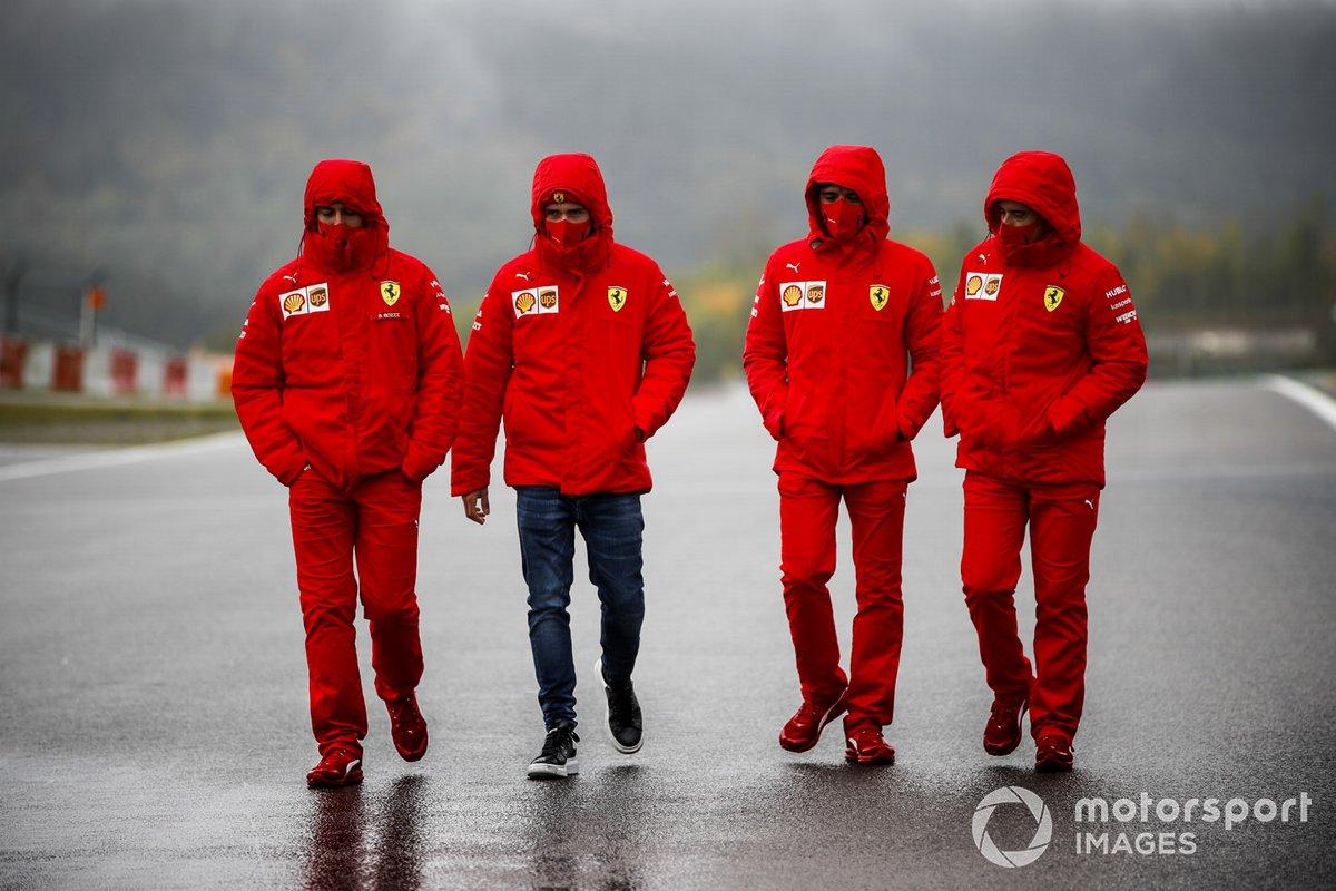 Шарль Леклер, Ferrari. прогулка по трассе