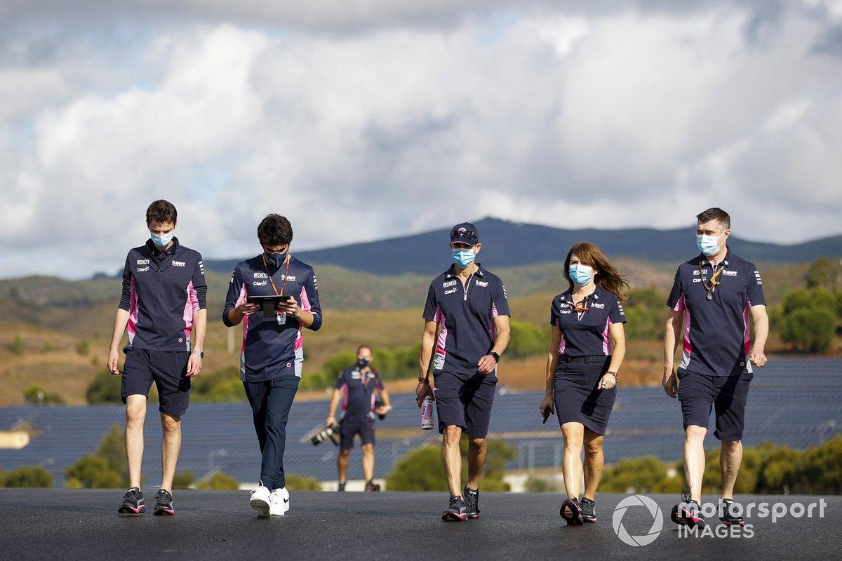 Lance Stroll, Racing Point, fait son tour de piste
