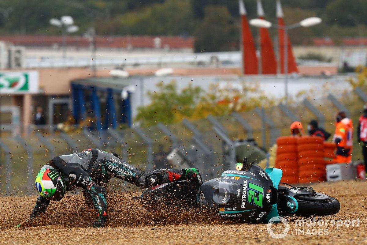 Caída de Franco Morbidelli, Petronas Yamaha SRT