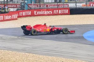 Sebastian Vettel, Ferrari SF1000 spins