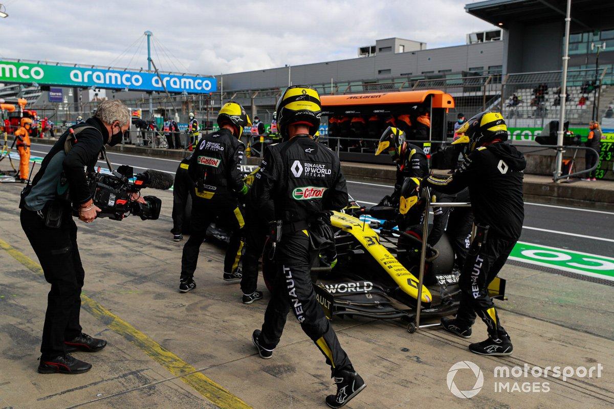 Esteban Ocon, Renault F1 Team R.S.20, si ritira dalla gara