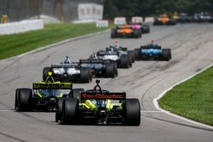 Charlie Kimball, A.J. Foyt Enterprises Chevrolet, Santino Ferrucci, Dale Coyne Racing avec Vasser Sullivan Honda