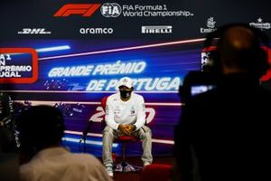 Pole man Lewis Hamilton, Mercedes-AMG F1, in the post Qualfying Press Conference