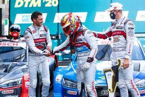 Loic Duval, Audi Sport Team Phoenix, Robin Frijns, Audi Sport Team Abt Sportsline, Nico Müller, Audi Sport Team Abt Sportsline
