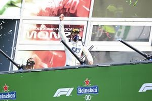 Pierre Gasly, AlphaTauri, 1st position, on the podium