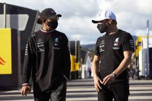 Lewis Hamilton, Mercedes-AMG F1, and Valtteri Bottas, Mercedes-AMG F1