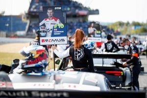 Grid girl of Harrison Newey, Audi Sport Team WRT