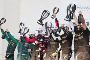 GTE Podium: #80 Iron Lynx Ferrari F488 GTE Evo: Matteo Cressoni, Rino Mastronardi, Miguel Molina