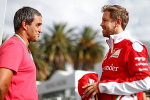 Sebastian Vettel, Ferrari with Juan Pablo Montoya
