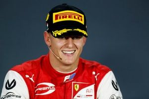 Race Winner Mick Schumacher, Prema Racing in the press confrence