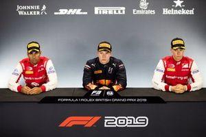 Juri Vips, Hitech Grand Prix Jehan Daruvala, PREMA Racing en Marcus Armstrong, PREMA Racing