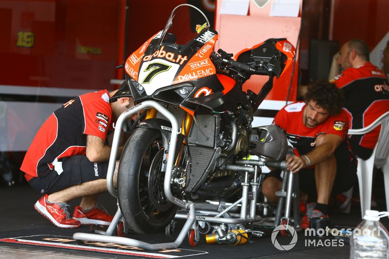 La moto di Chaz Davies, Aruba.it Racing-Ducati Team
