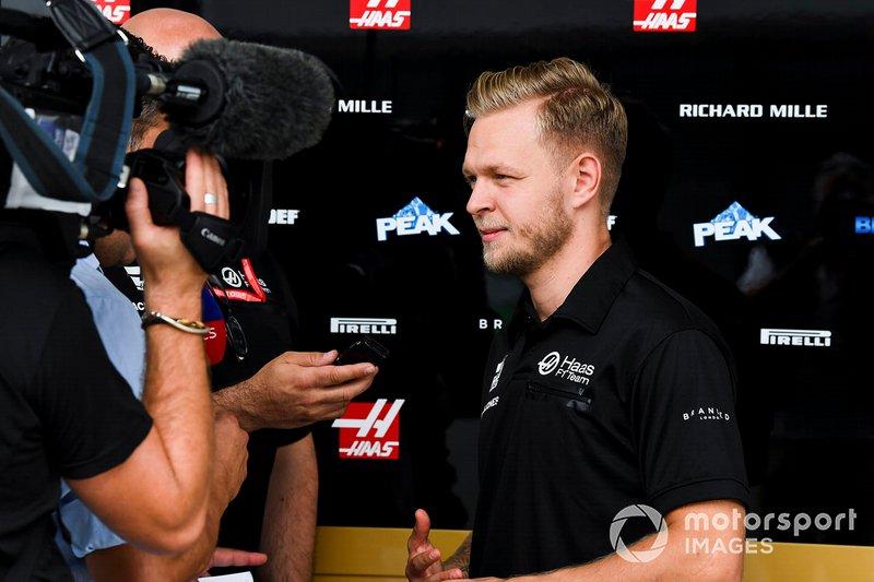Kevin Magnussen, Haas F1 habla con los medios