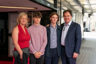 James Allen, Motorsport Network President with his family