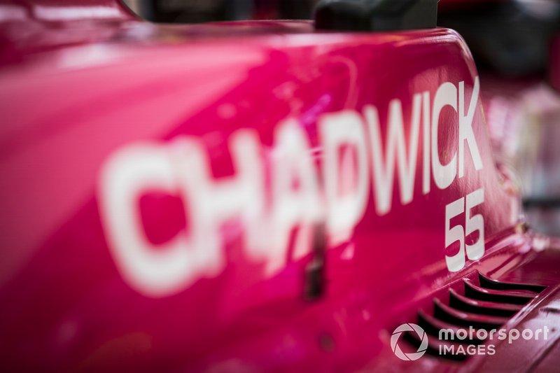 Jamie Chadwick, detail on car