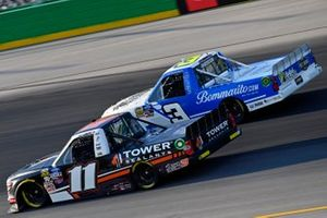 Spencer Davis Rette Jones Racing, Toyota Tundra All Pro and Jordan Anderson, Jordan Anderson Racing, Chevrolet Silverado SponsorJordan.com