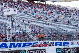 Christopher Bell, Joe Gibbs Racing, Toyota Supra Rheem-Watts checkered flag