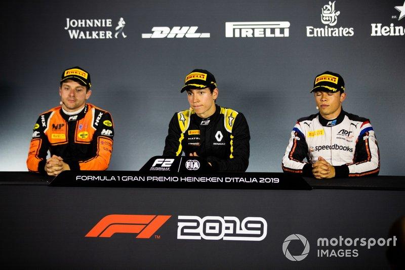 Jack Aitken, Campos Racing Nyck De Vries, ART Grand Prix and Jordan King, MP Motorsport