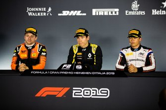 Jack Aitken, Campos Racing Nyck De Vries, ART Grand Prix y Jordan King, MP Motorsport