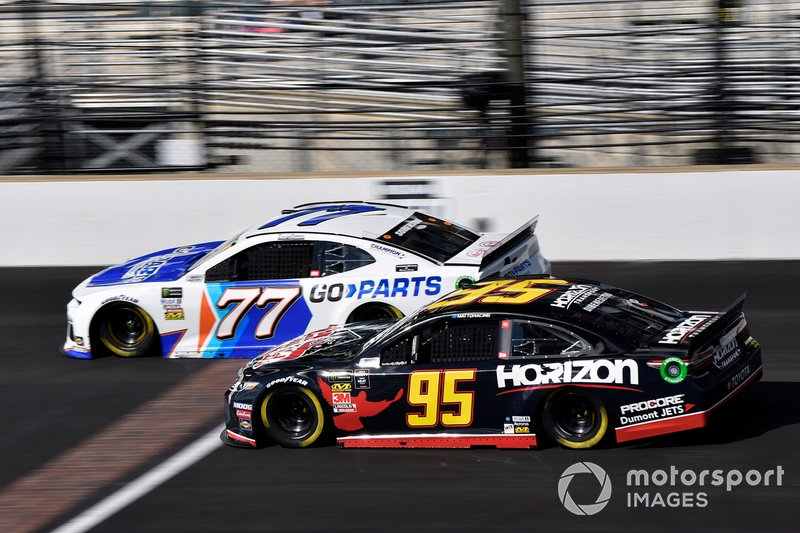 Reed Sorenson, Spire Motorsports, Chevrolet Camaro Go-Parts.com and Matt DiBenedetto, Leavine Family Racing, Toyota Camry Horizon Transport