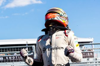 Robin Frijns, Envision Virgin Racing, Audi e-tron FE05, celebrates after taking the win