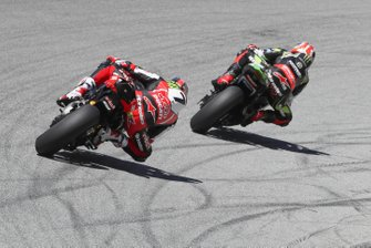 Jonathan Rea, Kawasaki Racing Team, Chaz Davies, Aruba.it Racing-Ducati Team